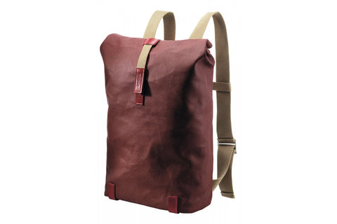Brooks Pickwick Roll Top Rucksack Red/Maroon (Small)