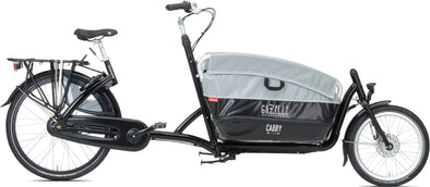 Gazelle Cabby C7 cargo bike to carry kids.