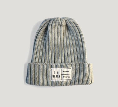 Old Harry Fisherman's Beanie Hat - Grey