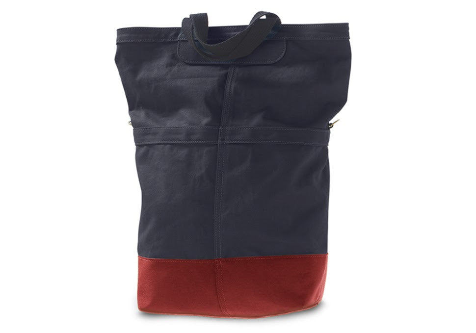 Linus sac pannier bag blue with red