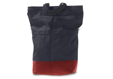 Linus Sac Pannier Bag Blue With Red Base