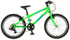 "Squish 20"" lightweight kids bike in lime green for 6 years and above."
