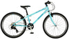 "Squish 24"" lightweight kids bike in bright mint for 8 years and above"