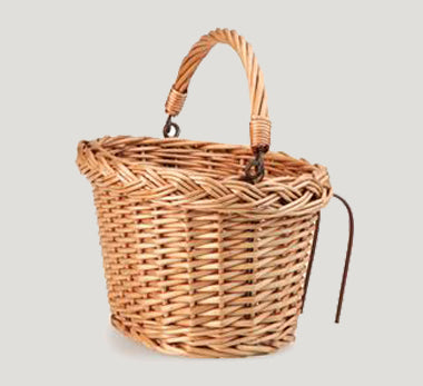 The Pup Childrens wicker bike basket.