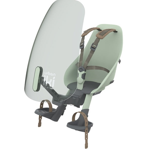 Urban Iki Front Child bike Seat windscreen green.