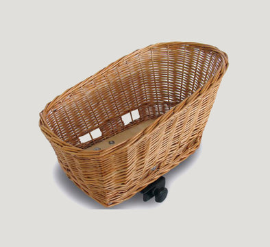 Basil Wicker Dog Bike Basket