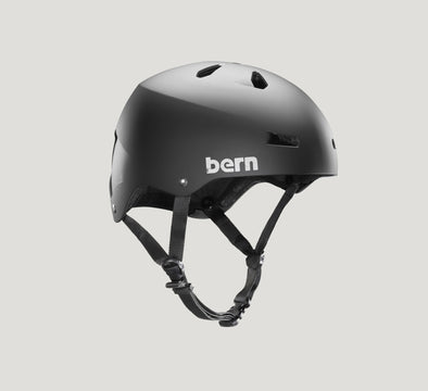 bern macon black bike helmet