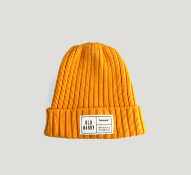 Old Harry Fisherman's Beanie Hat - Yellow