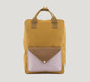 Sticky lemon envelope backpack mustard and pink