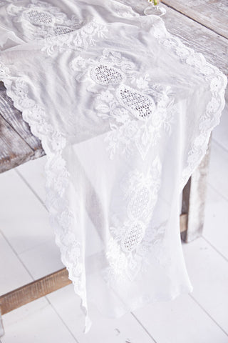 Custom Embroidered Lace Table Runner