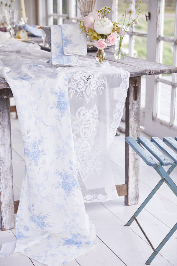 Morning Grey Linen Table Runner