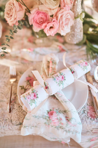 Washed Rose Party Cracker Set of 4
