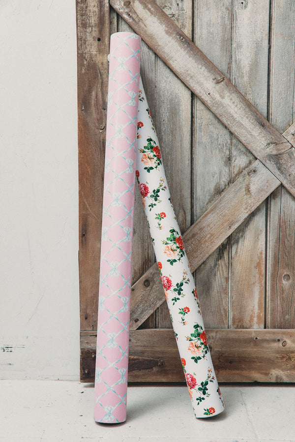 Everblooming Rosettes 80' Wrapping Paper Roll
