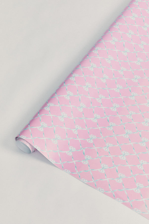 Baby Bow 80' Wrapping Paper Roll