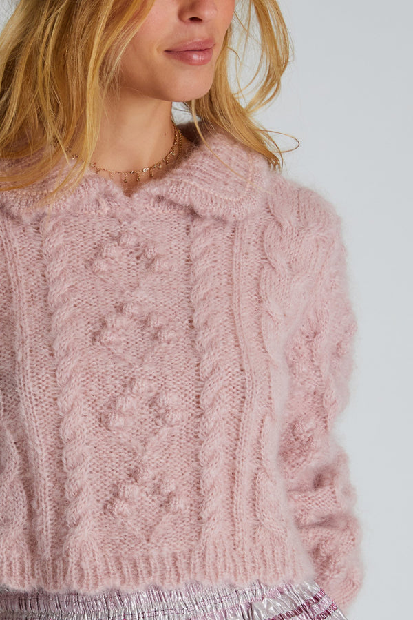 Berget Cropped Collared Sweater