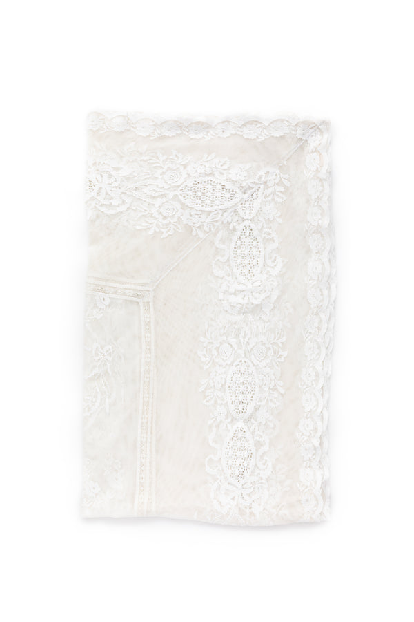 Custom Embroidered Lace Tablecloth