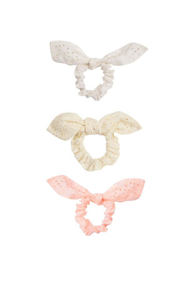 Vineyard Eyelet Scrunchie Pack