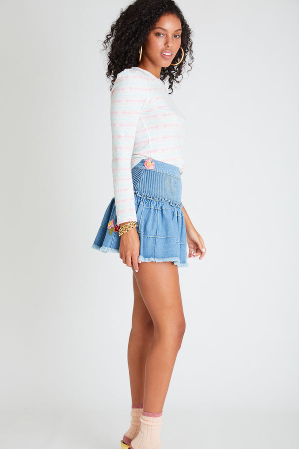 Meadow Denim Skirt