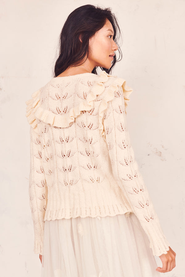 Warren Ruffle Cardigan