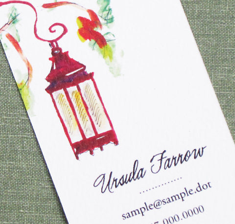 Chinoiserie Lantern Business Card, Set of 50