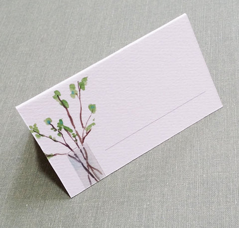 Leafy Twigs in Vase Place Cards (Set of 12)
