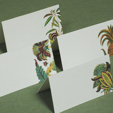 East Indies Botanical Place Cards (Set of 12)