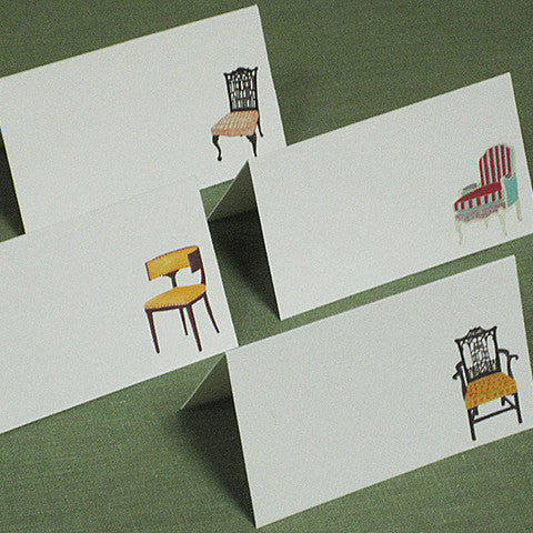 Place Cards Classic  Chairs, Set of 12