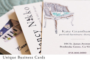 Unique business cards for design businesses by nancy nikko