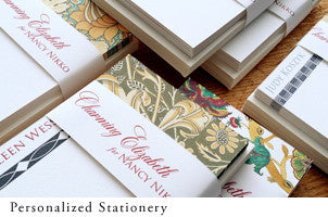 Personalized stationery by Nancy Nikko Design