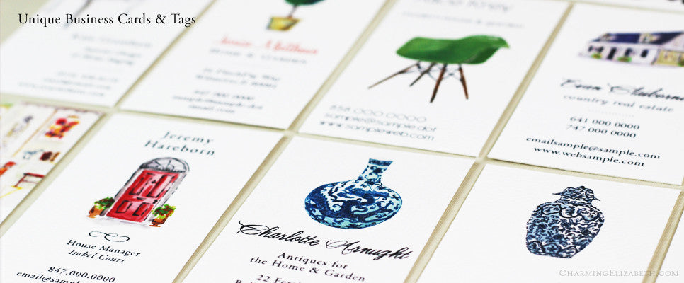 Unique business cards by Nancy Nikko Design