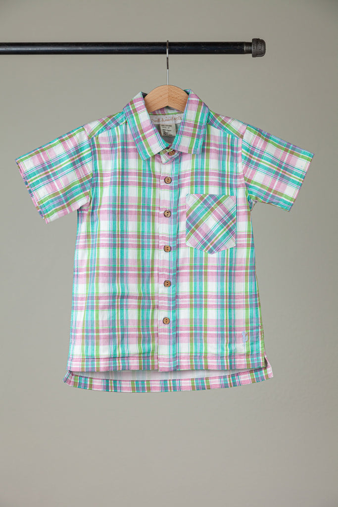 Easter Plaid Boy Shirt