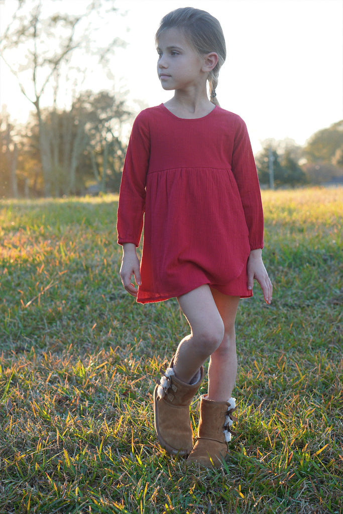 Petal Tunic Set : Crimson