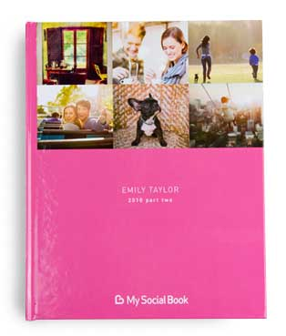 Instagram Photo book with a pink hardcover