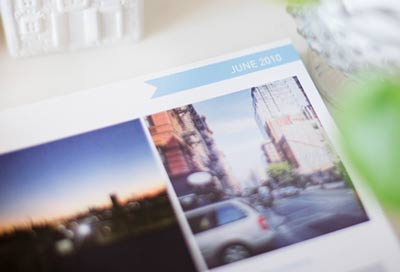 Open Instagram Photo Book on a table