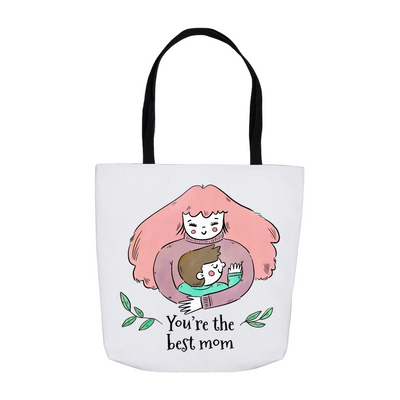 Hugging Best Mom Tote Bag