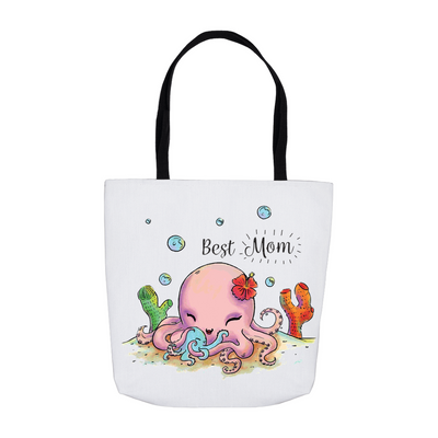 Cute Octopus Best Mom Tote Bag - My Social Book The Photo Book