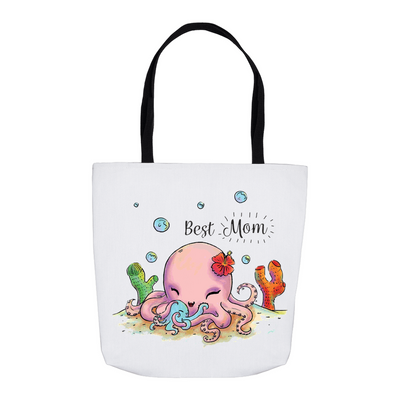 Cute Octopus Best Mom Tote Bag