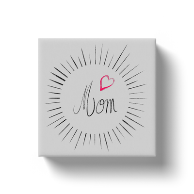 Mom Circle Canvas
