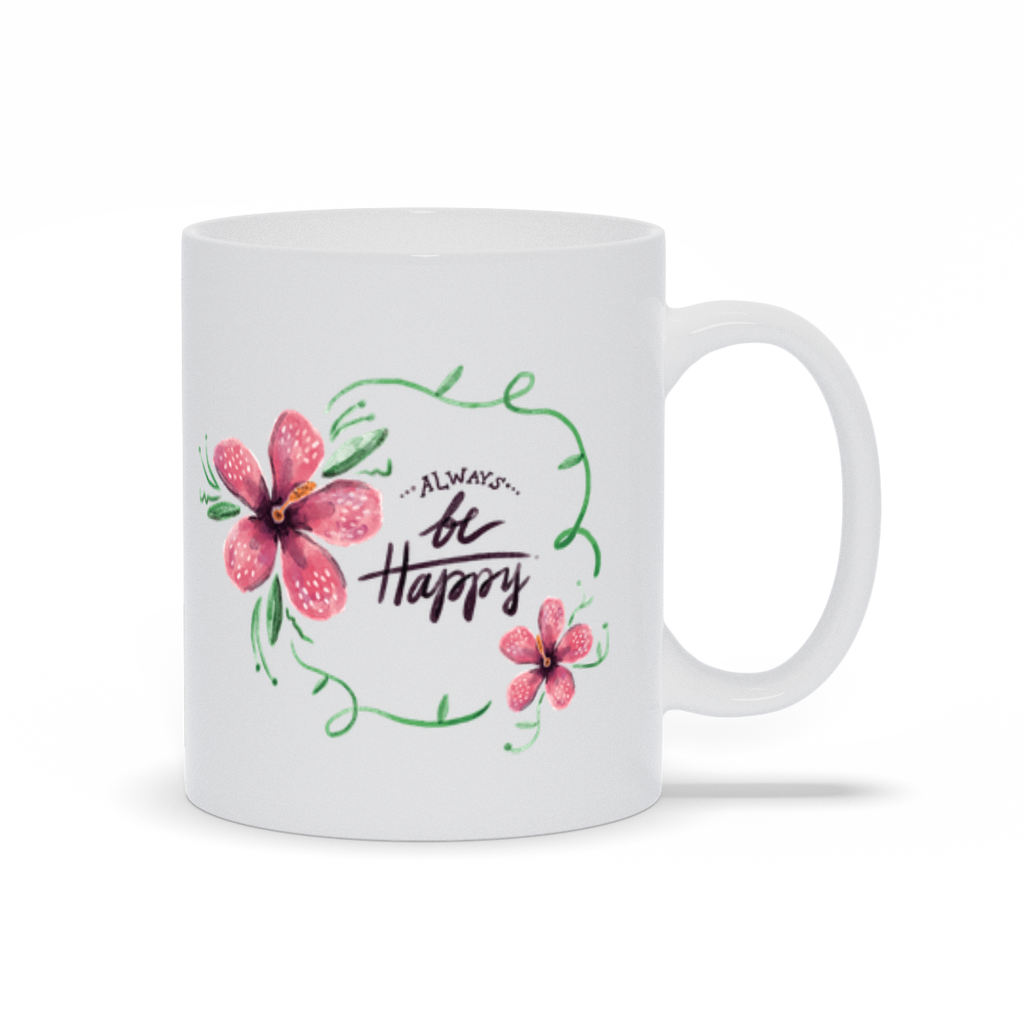 "Tasse ""Always Be Happy"" - My Social Book Le livre photo"