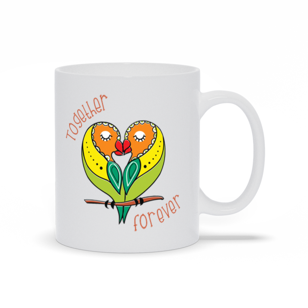 Together Forever Parrot Mugs