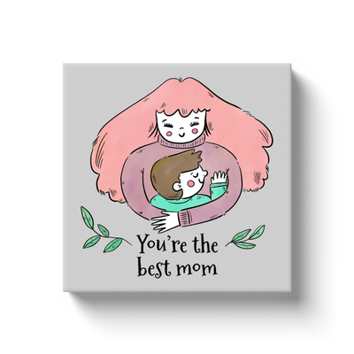 Hugging Best Mom Canvas