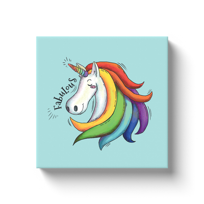 Fabulous Unicorn Canvas Wraps