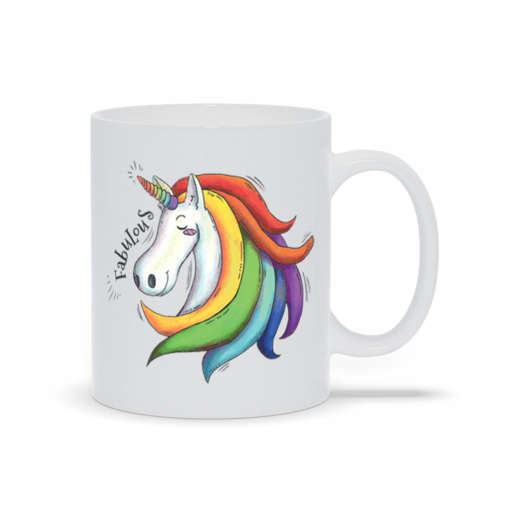 Tasse Fabulous Unicorn - My Social Book Le livre photo