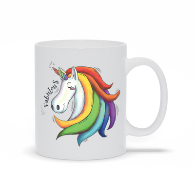 Fabulous Unicorn Mug - My Social Book The Photo Book
