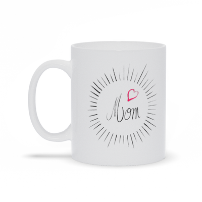 Mom Circle Heart Mug - My Social Book The Photo Book