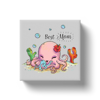 Cute Octopus Best Mom Canvas - My Social Book The Photo Book