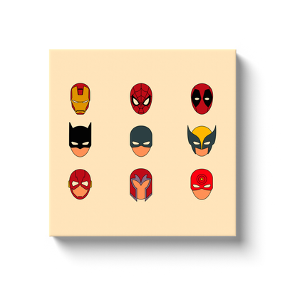 Superheroes Canvas Wrap - My Social Book The Photo Book