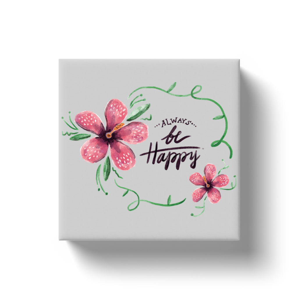 Always Be Happy Canvas Wrap - My Social Book Le livre photo