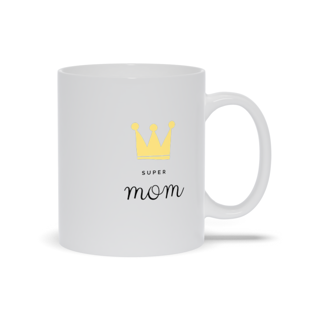 Super Mom with a Crown Mug - My Social Book The Photo Book