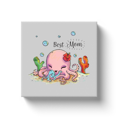 Cute Octopus Best Mom Canvas
